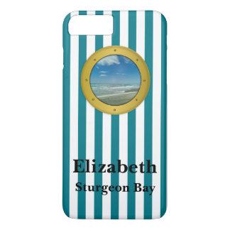 Custom Porthole Destination Beach iPhone 7 Plus Case