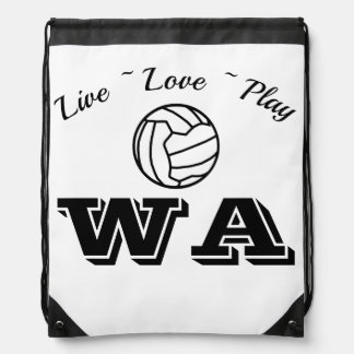 Custom Positions Netball Drawstring Bag