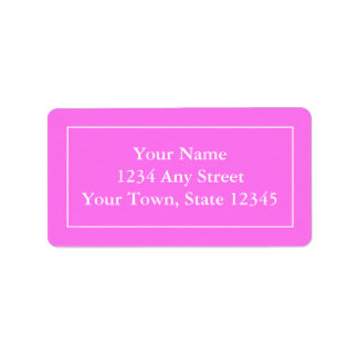 Custom Pre-addressed Pink & White Mailing Labels
