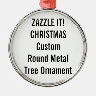Custom Premium Round Christmas Tree Ornament