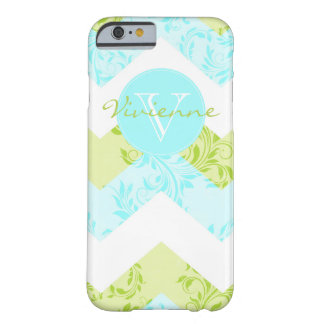 Custom pretty Floral damask chevron iPhone 6 case