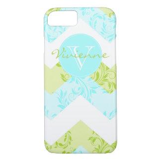 Custom pretty Floral damask chevron iPhone 7 case