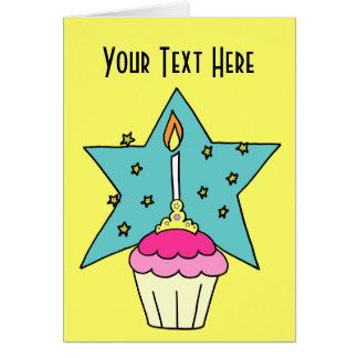 Custom Princess Cupcake Card