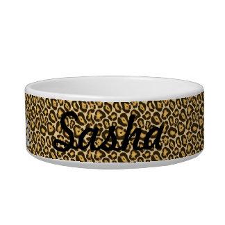 Custom Princess Jaguar Print Food Dish Cat Food Bowls