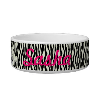 Custom Princess Zebra Print Food Dish
