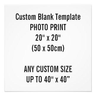 "Custom Print 20"" x 20"" Photo Print Blank Template"