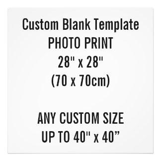 "Custom Print 28"" x 28"" Photo Print Blank Template"