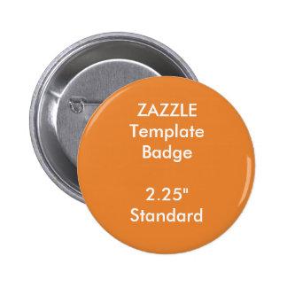 "Custom Print 2.25"" Round Badge Blank Template"