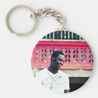 Custom Print Basic Round Button Key Ring