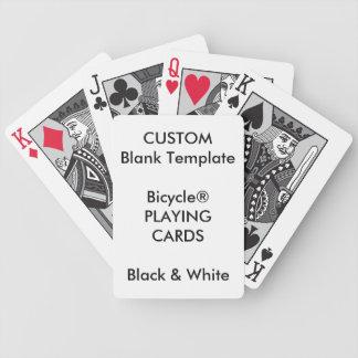 Custom Print Bicycle® BLACK & WHITE Playing Cards