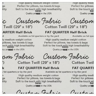 Custom Print Cotton Twill FAT QUARTER 1/2 Brick Fabric