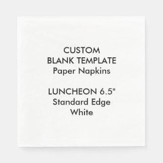 Custom Print Large HITE Luncheon Paper Napkins