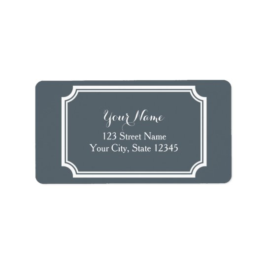 Custom printed address labels with fancy border