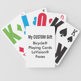 Custom Printed Bicycle® Playing Cards LARGE PRINT