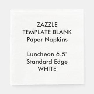 Custom Printed Large WHITE Luncheon PaperNapkins Paper Napkins