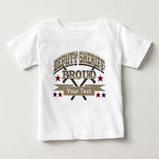 Custom Proud Deputy Sheriff Baby T-Shirt