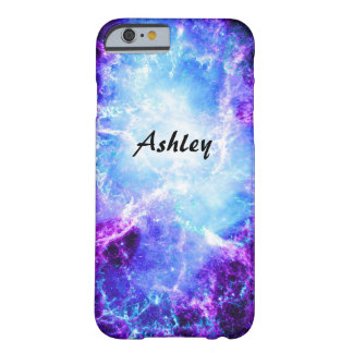 Custom Purple Blue Galaxy Slim iPhone 6 Case