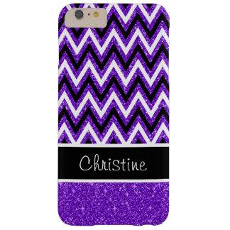 Custom Purple Glitter Chevron iPhone 6 Plus Case