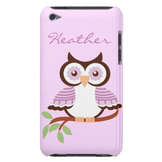 Custom Purple Owl iPod Case-Mate Barely There