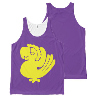 Custom - Purple Parrots Tank for Lad All-Over Print Tank Top