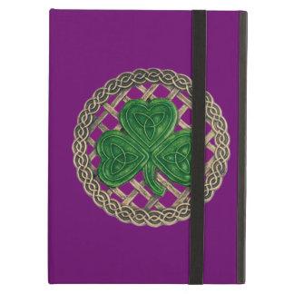 Custom Purple Shamrock Celtic Knots iPad Case