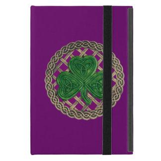 Custom Purple Shamrock Celtic Knots iPad Mini Case