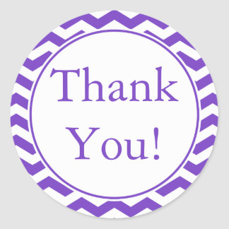 Custom Purple Thank You Sticker and Favor Label