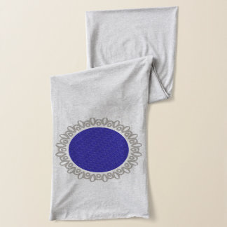 Custom Purple Weave Monogram Scarf
