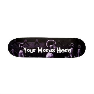 Custom Purple X-Ray Skeletons Midnight Stroll 19.7 Cm Skateboard Deck