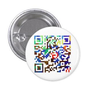 custom Q R code 3 Cm Round Badge