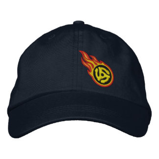 Custom Racing Flames 45 Spacer Bullet Badge Embroidered Hats
