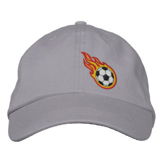 Custom Racing Flames Soccer Bullet Badge Baseball Cap