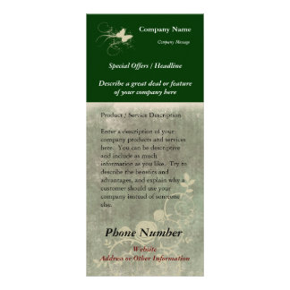 Custom Rack Card, Green Design (Spa, Health, Hair Rack Card
