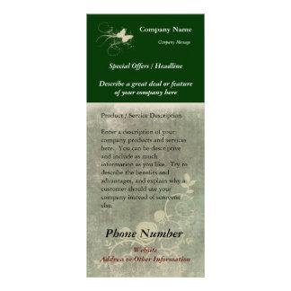 Custom Rack Card, Green Design (Spa, Health, Hair Rack Card Design