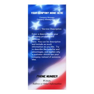 Custom Rack Card, Patriotic Design Full Colour Rack Card