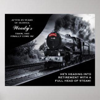 Custom Railroad Retirement No. 45 Train Poster