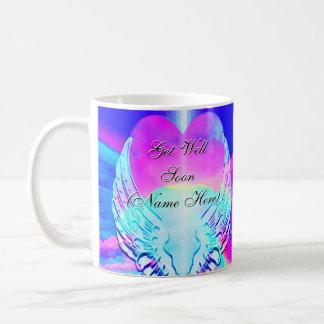 Custom Rainbow Heart Get Well Soon Coffee Mug