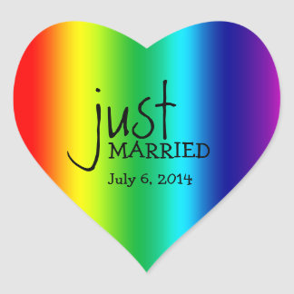 Custom Rainbow LGBT Wedding Favor Stickers