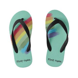 Custom Rainbow Slippers Kid's Thongs