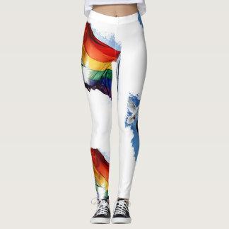 Custom rainbow women's leggings