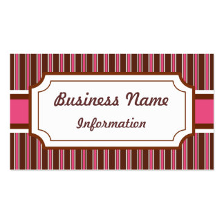 Custom Raspberry Fudge Business Card