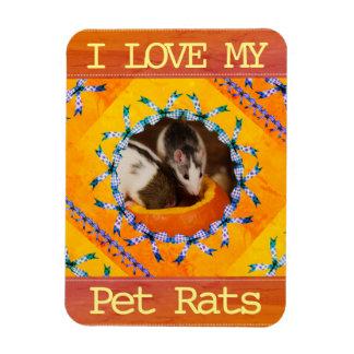 Custom Rat Photo I Love my Pet Rats Magnet