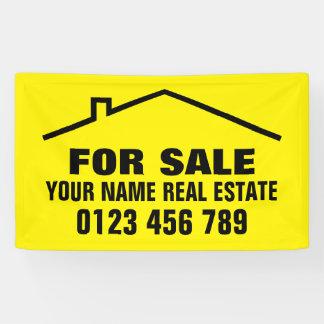 Custom real estate banner sign for realtor company