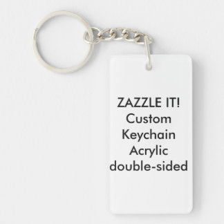 Custom Rectangle Acrylic Keychain Key Ring Blank