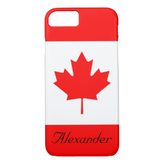 Custom Red and White Flag of Canada Maple Leaf iPhone 8/7 Case