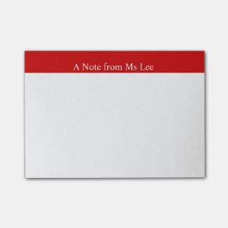 Custom Red Background Post-it Notes