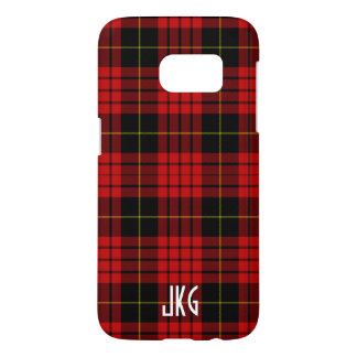 Custom Red, Black and Yellow Plaid Monogram