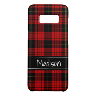 Custom Red Black Plaid Classic Modern Case-Mate Samsung Galaxy S8 Case