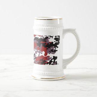 Custom Red Camo Beer Stein Mug