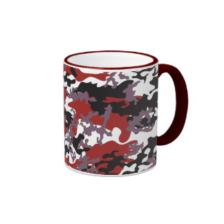 Custom Red Camo Glass Mug